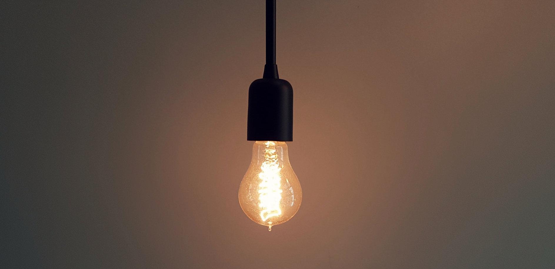 idea realization light bulb